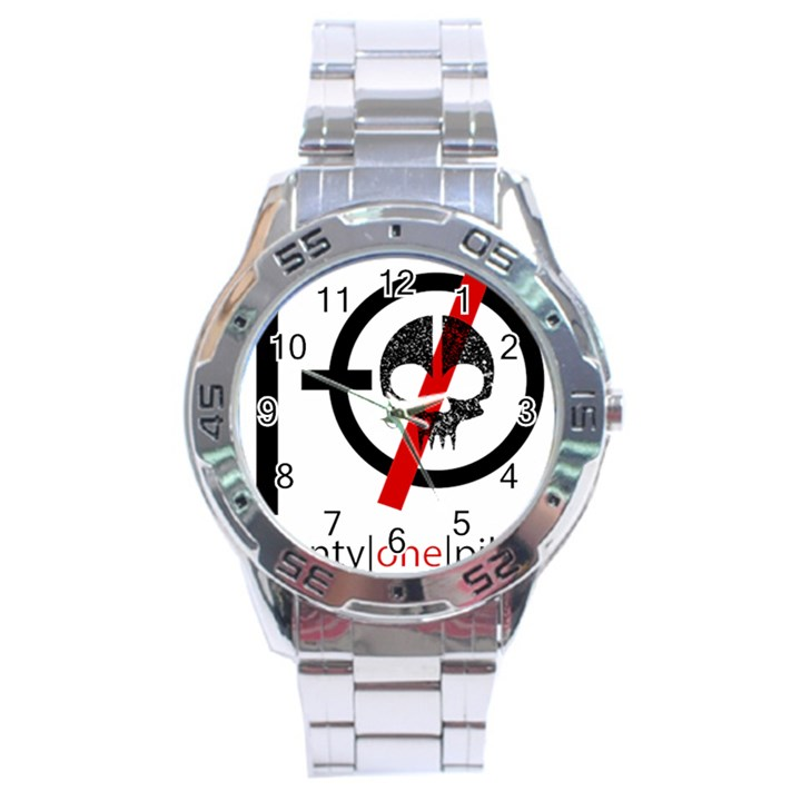 Twenty One Pilots Skull Stainless Steel Analogue Watch