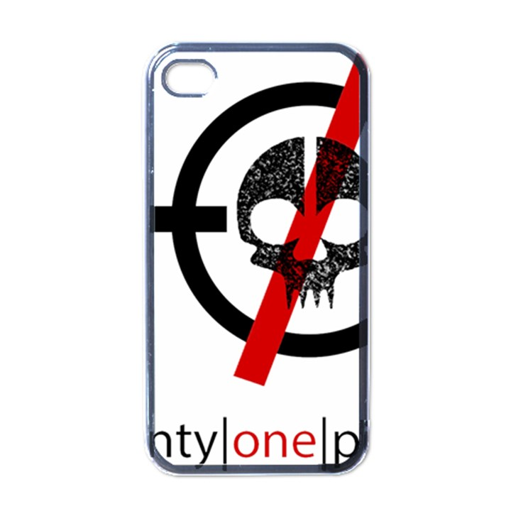 Twenty One Pilots Skull Apple iPhone 4 Case (Black)
