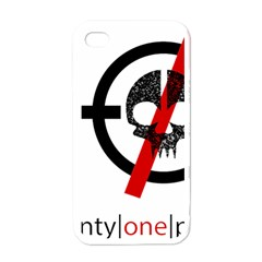 Twenty One Pilots Skull Apple iPhone 4 Case (White)