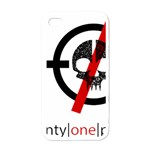 Twenty One Pilots Skull Apple iPhone 4 Case (White) Front