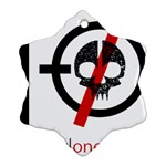 Twenty One Pilots Skull Snowflake Ornament (2-Side) Front