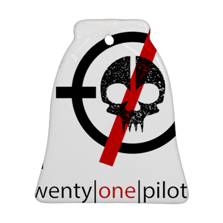 Twenty One Pilots Skull Bell Ornament (2 Sides)