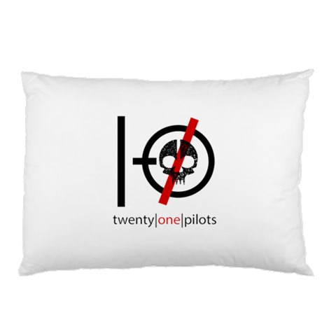 Twenty One Pilots Skull Pillow Case (Two Sides)