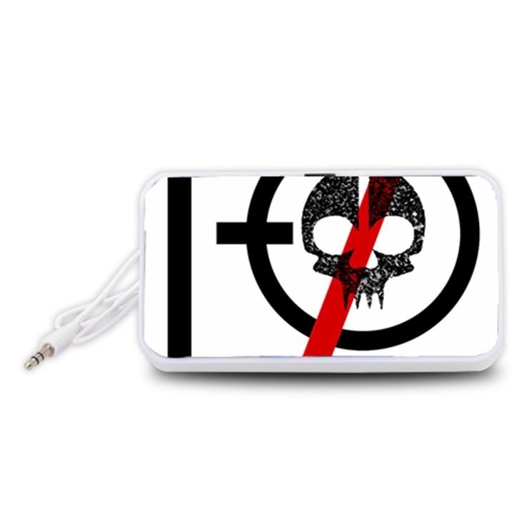 Twenty One Pilots Skull Portable Speaker (White)
