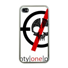 Twenty One Pilots Skull Apple iPhone 4 Case (Clear)
