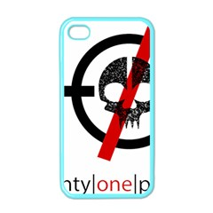 Twenty One Pilots Skull Apple Iphone 4 Case (color)