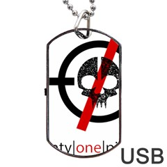 Twenty One Pilots Skull Dog Tag Usb Flash (two Sides)