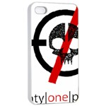Twenty One Pilots Skull Apple iPhone 4/4s Seamless Case (White) Front