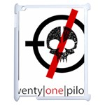 Twenty One Pilots Skull Apple iPad 2 Case (White) Front