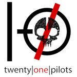 Twenty One Pilots Skull Twin Heart Bottom 3D Greeting Card (8x4) Inside