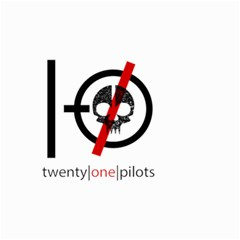 Twenty One Pilots Skull Small Garden Flag (two Sides)