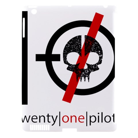 Twenty One Pilots Skull Apple iPad 3/4 Hardshell Case (Compatible with Smart Cover)