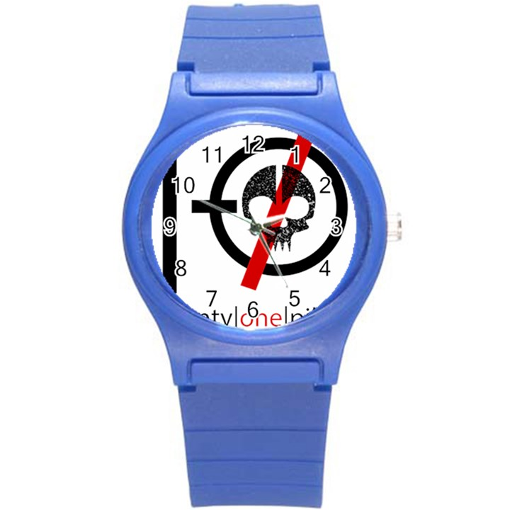 Twenty One Pilots Skull Round Plastic Sport Watch (S)