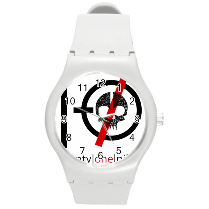 Twenty One Pilots Skull Round Plastic Sport Watch (M)