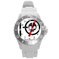Twenty One Pilots Skull Round Plastic Sport Watch (L)