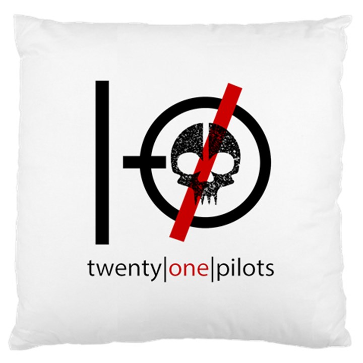 Twenty One Pilots Skull Large Cushion Case (One Side)
