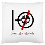 Twenty One Pilots Skull Large Cushion Case (Two Sides) Back