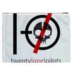 Twenty One Pilots Skull Cosmetic Bag (XXL)  Back