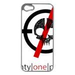 Twenty One Pilots Skull Apple iPhone 5 Case (Silver) Front