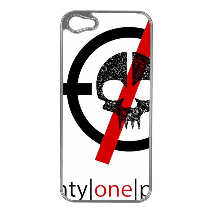 Twenty One Pilots Skull Apple iPhone 5 Case (Silver)