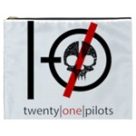 Twenty One Pilots Skull Cosmetic Bag (XXXL)  Front