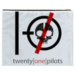 Twenty One Pilots Skull Cosmetic Bag (XXXL)  Back
