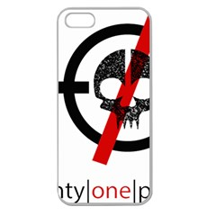Twenty One Pilots Skull Apple Seamless iPhone 5 Case (Clear)
