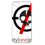 Twenty One Pilots Skull Apple Seamless iPhone 5 Case (Clear) Front