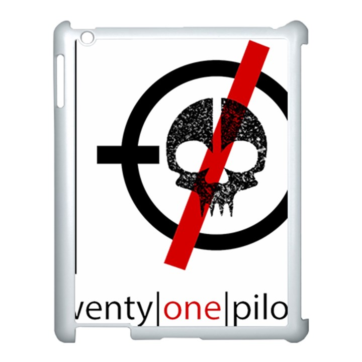 Twenty One Pilots Skull Apple iPad 3/4 Case (White)