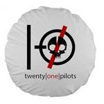Twenty One Pilots Skull Large 18  Premium Round Cushions Back