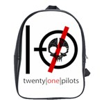 Twenty One Pilots Skull School Bags (XL)  Front