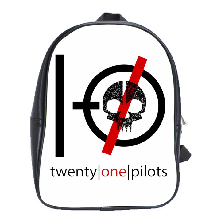 Twenty One Pilots Skull School Bags (XL)