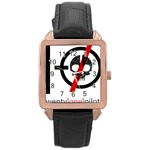 Twenty One Pilots Skull Rose Gold Leather Watch  Front