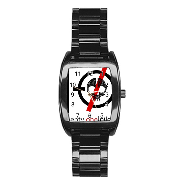 Twenty One Pilots Skull Stainless Steel Barrel Watch