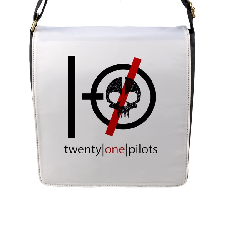 Twenty One Pilots Skull Flap Messenger Bag (L)