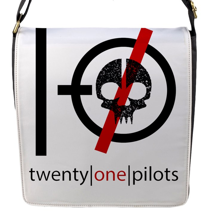 Twenty One Pilots Skull Flap Messenger Bag (S)