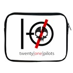 Twenty One Pilots Skull Apple iPad 2/3/4 Zipper Cases Front
