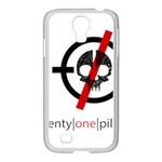 Twenty One Pilots Skull Samsung GALAXY S4 I9500/ I9505 Case (White) Front