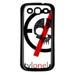 Twenty One Pilots Skull Samsung Galaxy S3 Back Case (Black) Front