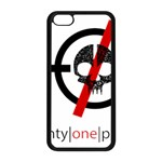 Twenty One Pilots Skull Apple iPhone 5C Seamless Case (Black) Front