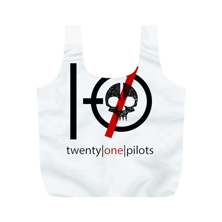 Twenty One Pilots Skull Full Print Recycle Bags (M)