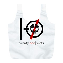 Twenty One Pilots Skull Full Print Recycle Bags (l)