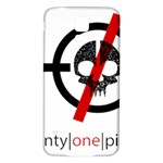 Twenty One Pilots Skull Samsung Galaxy S5 Back Case (White) Front