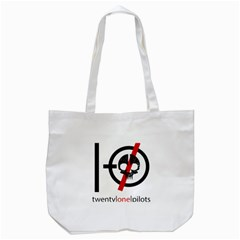 Twenty One Pilots Skull Tote Bag (White)