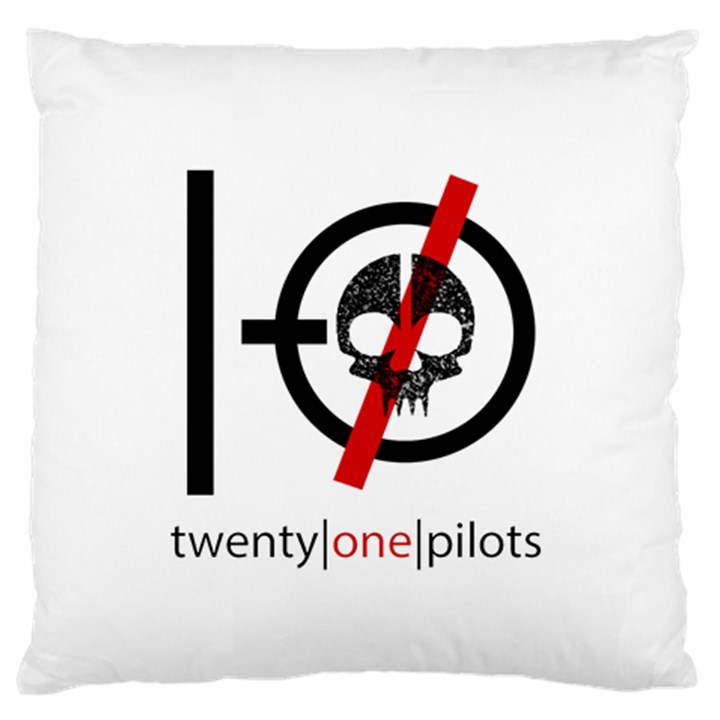 Twenty One Pilots Skull Large Flano Cushion Case (One Side)