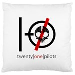 Twenty One Pilots Skull Large Flano Cushion Case (Two Sides) Back
