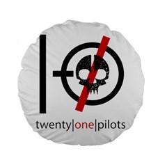 Twenty One Pilots Skull Standard 15  Premium Flano Round Cushions