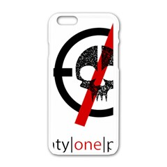 Twenty One Pilots Skull Apple iPhone 6/6S White Enamel Case