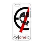 Twenty One Pilots Skull Apple iPhone 6/6S White Enamel Case Front