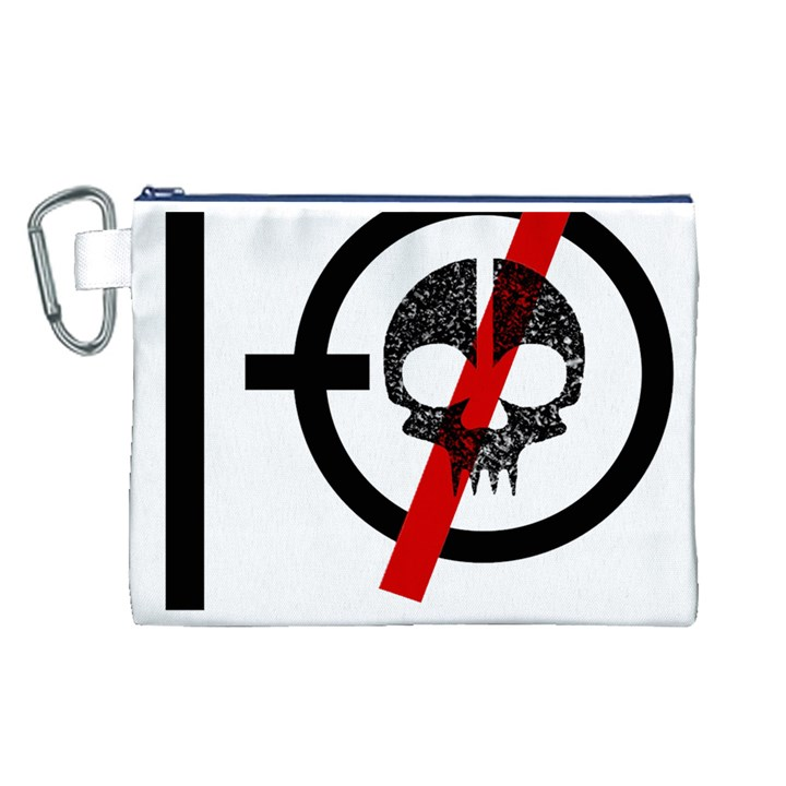 Twenty One Pilots Skull Canvas Cosmetic Bag (L)